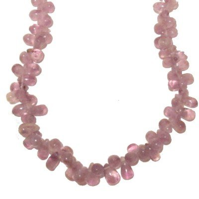 Amethyst Necklace 07 Drops Light Purple Crystal Healing Gemstone 24