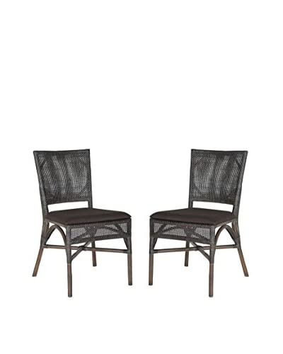 Safavieh Set of 2 Capri Side Chairs, Black