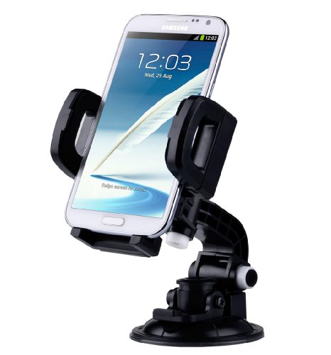 TaoTronics® TT-SH03 Car Windshield & Dashboard Mount Cradle Holder for iPhone 5S 5C 5 4S 4 3GS, Samsung Galaxy Note 3 Note 2 S4 S3 Mega, Nokia Lumia 1020 925 928 920, HTC Desire 500 DROID DNA One 8X 8