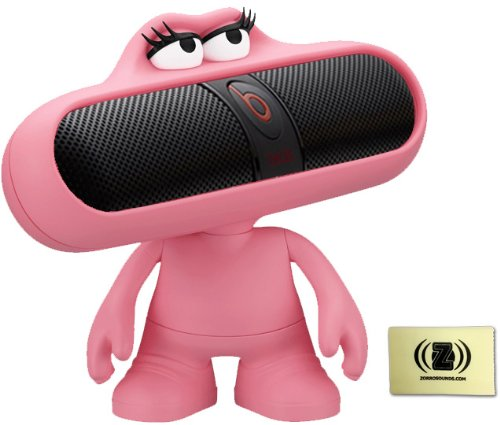Beats By Dr. Dre Pill 2.0 Wireless Portable Speaker System (Black) Bundle With Pink Pill Character Stand And Zorro Sounds Cleaning Cloth