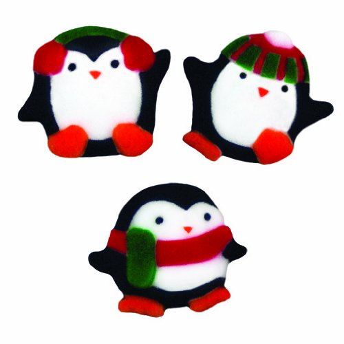Winter Christmas Penguin Sugar Decorations Cookie Cupcake Cake 12 Count