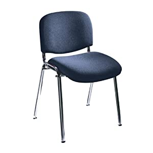 Safco Visit Upholstered Stacking Chairs (Qty.2)