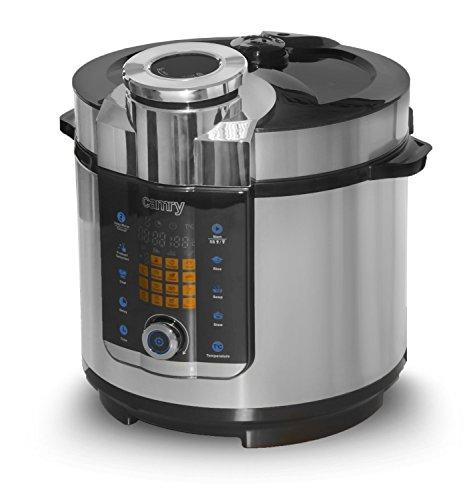 Multikocher-6-Liter-Edelstahl-Schnellkochtopf-Reiskocher-Kochautomat-cooker-Multikocher-Dampfdruck-Kochtopf-inklusiv-Dampfgarer-Einsatz-24-Stunde-Timer-1000-Watt-19-Automaitkprogramme