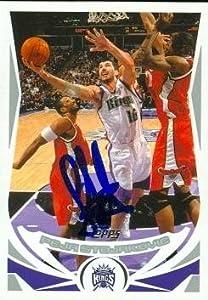 Peja Stojakovic Autographed Hand Signed Basketball Card (Sacramento Kings) 2004 Topps... by Hall of Fame Memorabilia