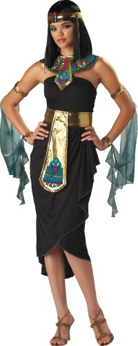 InCharacter Costumes Women's Cleopatra Costume, Black/Gold