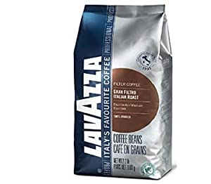 Lavazza Gran Filtro Italian Roast Medium Coffee Beans - 2.2 Lbs