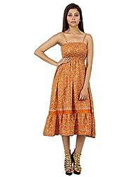 Indian Polyester Paisley Dress Beige Printed Medium For Ladies By Rajrang