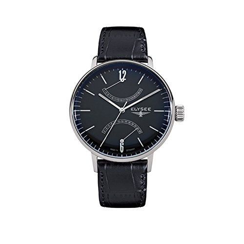 Elysee Men's Watch Sithon Leather Strap Black