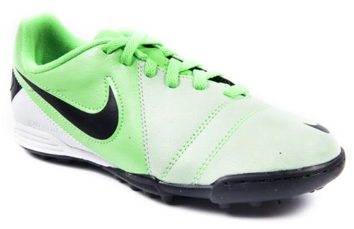 Nike Enganche Teen Boys Green and Black Astro Turf Football Boot