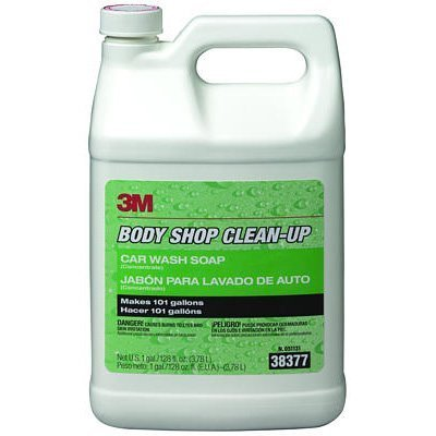3M 38377 3M Body Shop Clean-Up Car Wash Soap, 38377, 1 Gallon (US)