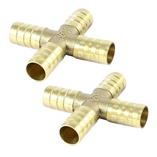Pcs way cross shaped mm tube hose barb connector