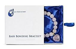 Rose Quartz Baby Bonding Bracelet   Nursing Bracelet for Breastfeeding