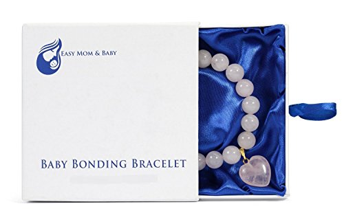 Rose Quartz Baby Bonding Bracelet | Nursing Bracelet for Breastfeeding - 1