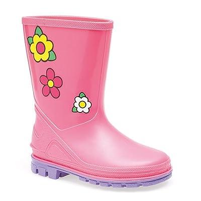 UKD Floral Kids Puddle Wellington Boot