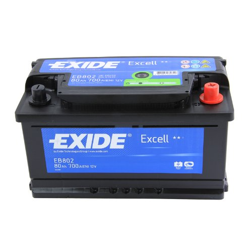 Exide Excell EB802 80Ah Autobatterie wartungsfrei