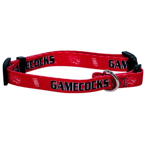 Ncaa South Carolina Fighting Gamecocks Adjustable Pet Collar, Medium, Team Color front-129385