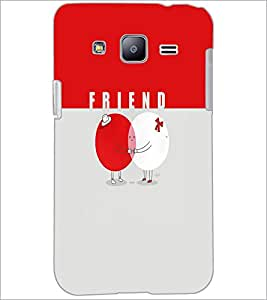 PrintDhaba Friends D-5884 Back Case Cover for SAMSUNG GALAXY J2 (Multi-Coloured)