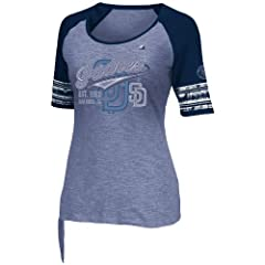 MLB San Diego Padres Ladies My Favorite Game T-Shirt, Navy by Majestic