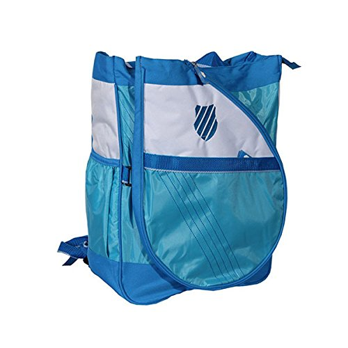 KSWISS Ibiza Convertible Backpack to Tote Tennis Bag with Removable Tennis Racquet Cover Light Blue (Fisher Price Trolley compare prices)