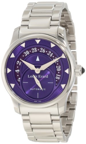 Louis Erard Women's 92600AA07.BMA16 Emotion Automatic Purple Dial Steel Date Watch