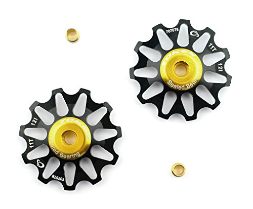 token-15507-polea-ruleta-cambio-aluminio-dorada-rodamiento-sellado-20g-bici-bicicleta