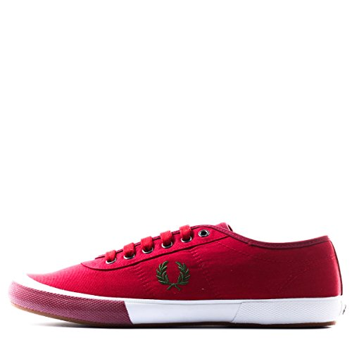 Fred Perry Men's Woodford Canvas Coloured Sneaker,Blood,9.5