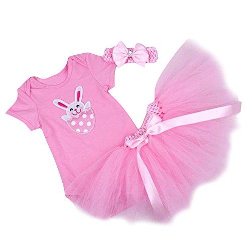 841ef331e Highdas vestidos para niña bebe cumpleaños del mameluco Romper + Banda de  cabeza + Vestido de