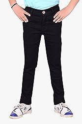 Makeover slim fit black boy's jeans