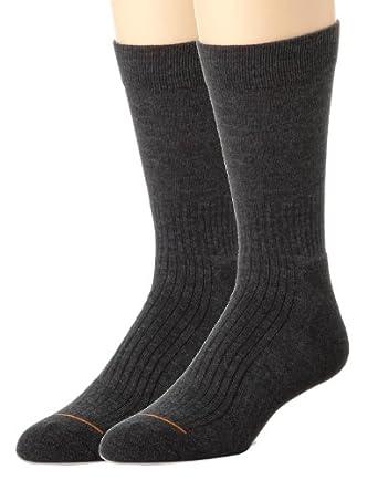 Rockport Men's 2-Pair Outlast Light Trekking/Winter Boot Crew Socks - Charcoal
