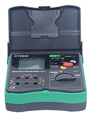Signstek DY5500 4 in 1 Multimeter - Insulation Tester + Earth Tester + Voltmeter + Phase Indicator