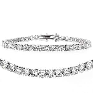 """12.00 Ct Round Cut Stunning Cubic Zirconias CZ 7"""" Tennis Bracelet 7 Inch"""