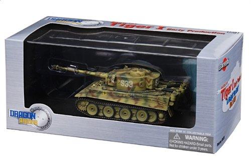 1:72 ドラゴンモデルズ アーマー コレクター シリーズ 60479 Henschel Sd.Kfz.181 Tiger ディスプレイ モデル ドイツ軍 8.PzRgt 2 #S33 Kursk U