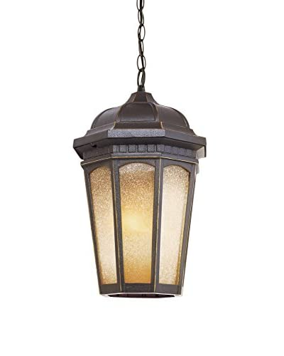 Bel Air Lighting Tea Chateau 14 Outdoor Pendant, Weathered Bronze