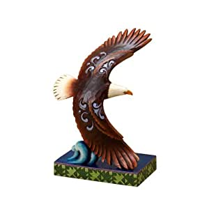 Jim Shore for Enesco Heartwood Creek Eagle Figurine, 6-3/4-Inch