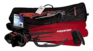 Persistent Pro Set Fins with Mask Snorkel Knife DVD Carrying Bag by Persistent