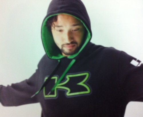 Kawasaki Sizzle Hooded Sweatshirt Black KX Ninja Hoody Hoodie (XX-Large)