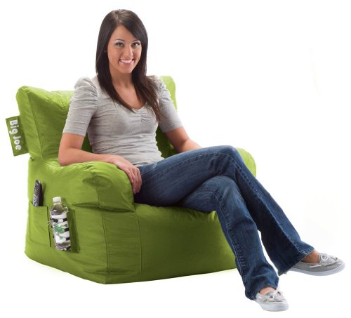 Comfort Research Big Joe Dorm Chair with Smart Max Fabric, Green Flash