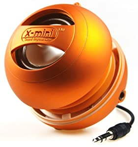 XMI X-Mini II 2nd Generation Capsule Speaker with 3.5mm Jack Compatible with iPhone/iPad/iPod/Smartphones/Tablets/MP3 Player/Laptop - Orange