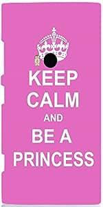 Snoogg Keep Calm Princess Case Cover For Nokia 920