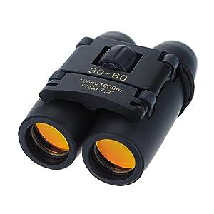 Patuoxun® 30 x 60 Zoom día y visión nocturna Prismáticos plegables telescopio incluye gamuza de limpieza y funda de transporte para viajar, nuestroa, escalada