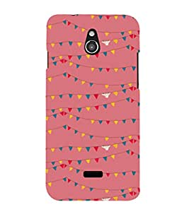 printtech Abstract Lines Design Back Case Cover for Infocus M2