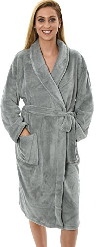 new-style-luxury-womens-full-length-fleece-bath-robe-dressing-gown-in-12-colours-large-cream-grey-me