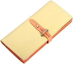 niceeshop(TM) Girls Women Fashion Vintage PU Leather Wallet ID Credit Card Bag,Yellow and Orange