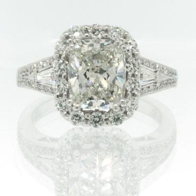 3.24ct Cushion Cut Diamond Engagement Anniversary Ring