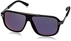 Scavin  Aviator Sunglasses (Black) (215S911BLKBLU|58)