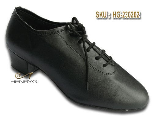 HenryG Men's Cuban Heel Latin Salsa Dance Shoes, Men's Ballroom Dance Shoes HGJF-230202
