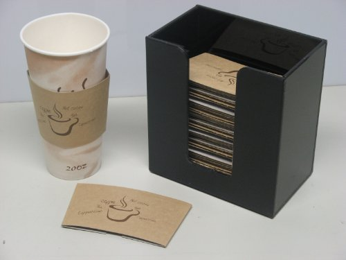 Coffee Cup Sleeve Or Hot Cup Holder Short Dispenser Organizer For Hot Drink Cups (3016) front-448641