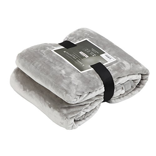 Buy Discount Qbedding All Season Ultra Soft Microplush Blanket Throw, Twin, Queen, King (Gray, King)