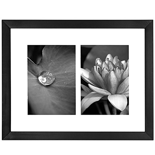 11x14 Collage Picture Frame - Displays Two 5x7 inch Portrait Pictures - White Mat - Multiple Picture Frame (Side By Side Frame 5x7 compare prices)