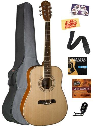 oscar-schmidt-og1-3-4-size-left-handed-dreadnought-acoustic-guitar-bundle-with-gig-bag-austin-bazaar
